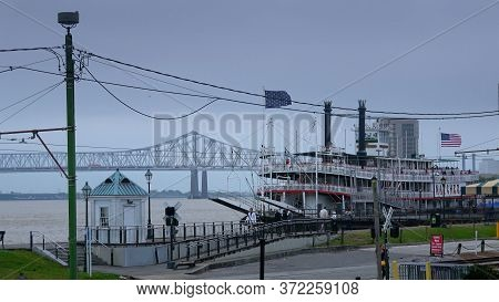 Natchez Paddle Steamer In New Orleans - New Orleans, Louisiana - April 17, 2016