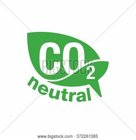 Co2 Neutral Green Stamp - Carbon Emissions Free (no Air Atmosphere Pollution) Industrial Production