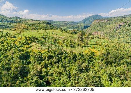 Gokteik Goteik Or Gok Teik Gorge Of Gohtwin Stream In Myanmar