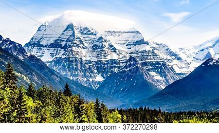 Cloud Blanket Over Mount Robson, The Highest Mountain In The Canadian Rockies, N Mount Robson Provin