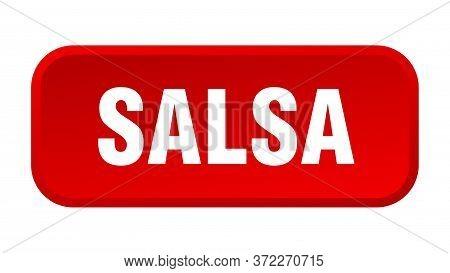 Salsa Button. Salsa Square 3d Push Button