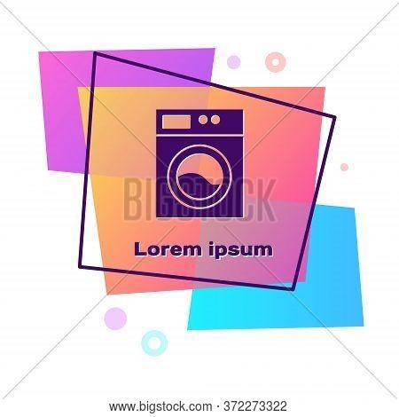 Purple Washer Icon Isolated On White Background. Washing Machine Icon. Clothes Washer - Laundry Mach