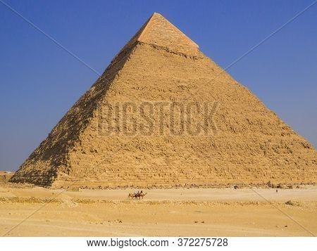 View Of The Pyramid Of Khafre, Giza Necropolis, Cairo, Egypt