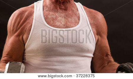 Healthy aging - senior muscle