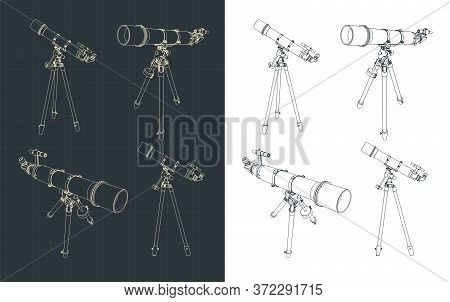 Spyglass On A Tripod Drawings