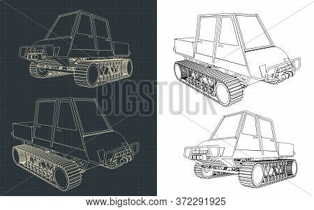 Tracked All-terrain Vehicle Drawings