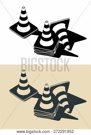 Traffic Cones Drawings
