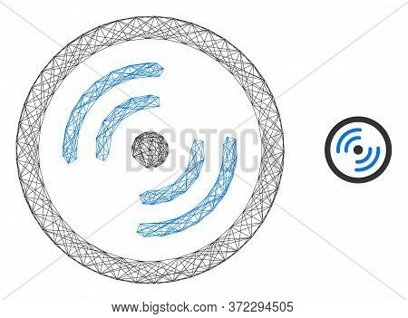 Web Network Rotor Rotation Vector Icon. Flat 2d Model Created From Rotor Rotation Pictogram. Abstrac