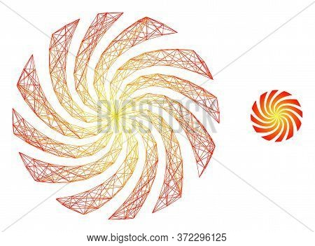 Web Carcass Rotation Swirl Vector Icon. Flat 2d Model Created From Rotation Swirl Pictogram. Abstrac