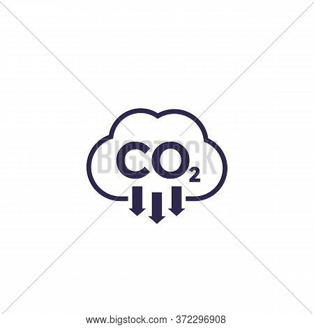 Co2, Carbon Dioxide Emissions, Vector Icon, Eps 10 File, Easy To Edit