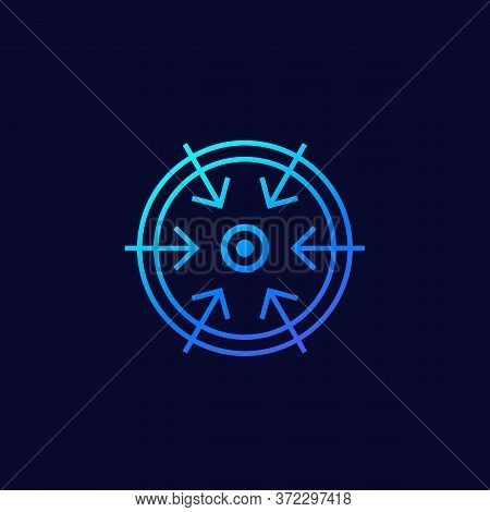 Specific Focus Or Strategy Icon, Eps 10 File, Easy To Edit
