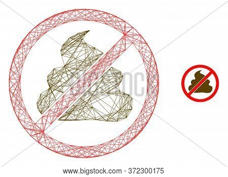 Web Carcass Forbidden Shit Vector Icon. Flat 2d Carcass Created From Forbidden Shit Pictogram. Abstr