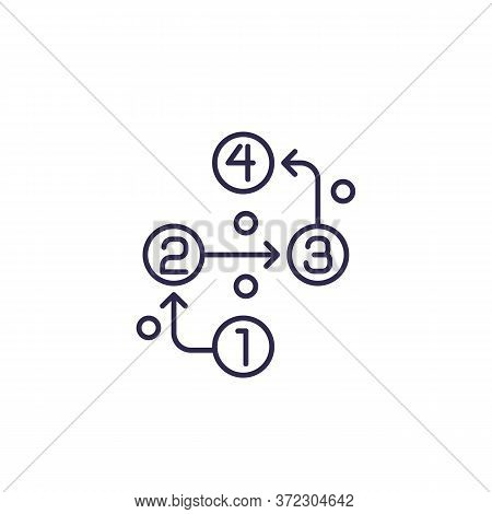 Methodology Line Icon On White, Eps 10 File, Easy To Edit