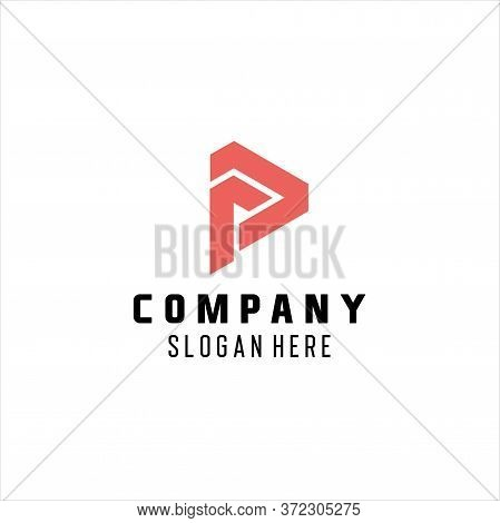 P Letter Logo,p Letter Logo Abstract Design