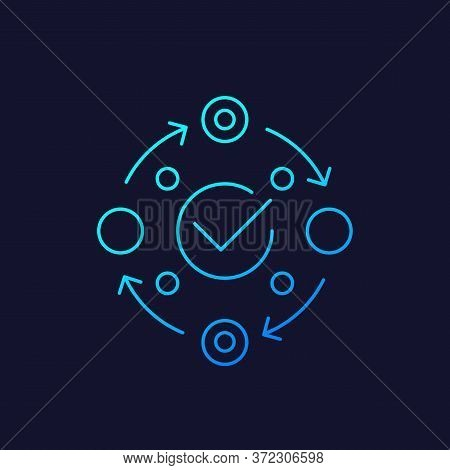 Methodology Icon, Linear Vector Design, Eps 10 File, Easy To Edit