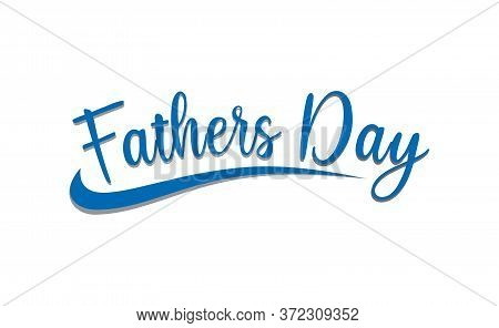 Happy Fathers Day Calligraphy Poster. Vector Fathers Day Text. Happy Fathers Day Lettering Design Il