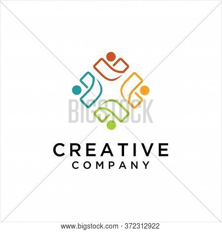 People Comunity Logo,for Comunity People And Busines Logo Simple Modern.
