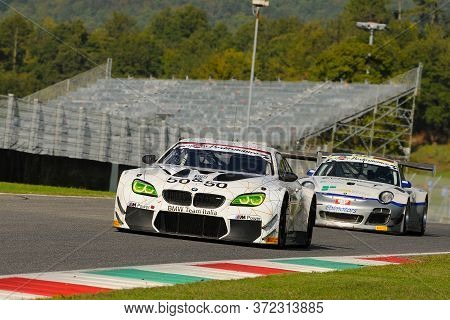 Mugello Circuit, Italy - July 17, 2016: BMW M6 GT3 of BMW Italia Team, driven by Alex Zanardi, Campi