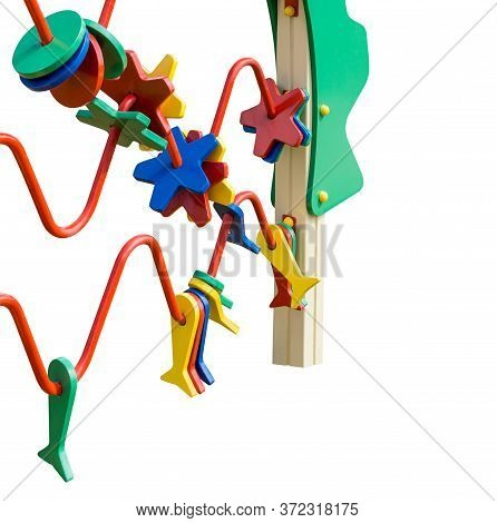 Fragment Of Trainer For Learning Colors And Development Of Manual Dexterity. Equipment For Playgroun