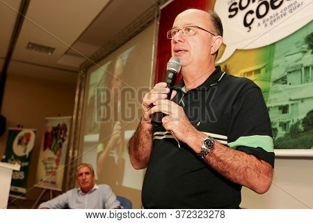 Porto Seguro, Bahia / Brazil - June 7, 2010: Jose Ronaldo De Carvalho, Former Mayors Of The City Of