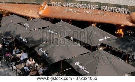 The Cheesecake Factory At John Hancock Building In Chicago - Chicago, Usa - June 11, 2019