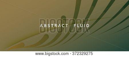 Brown Landing Page Design. 3d Flow Lines Texture. Vivid Technology Background. Camouflage Gradient M
