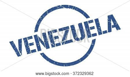 Venezuela Stamp. Venezuela Grunge Round Isolated Sign