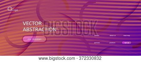 Abstract Fluid Background. 3d Geometric Flyer. Flow Lines Texture. Orange Abstract Fluid Background.