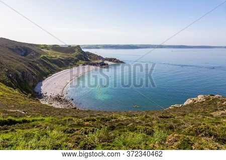 Beautiful Landscape At Erquy Cape In Brittany In North Of France.
