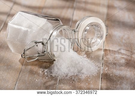 Magnesium Chloride In The Glass Bottle - Text Space