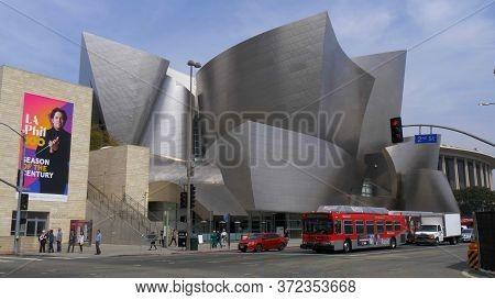 Walt Disney Concert Hall In Los Angeles - Los Angeles, Usa - March 18, 2019