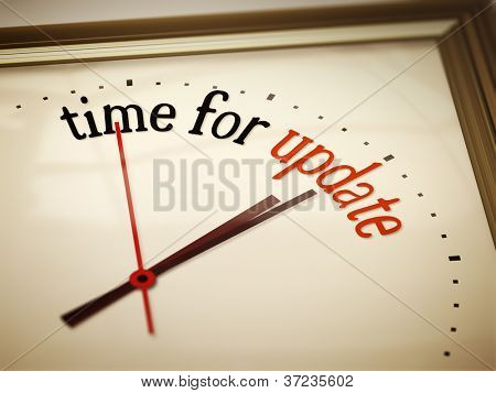 An image of a nice clock with time for update