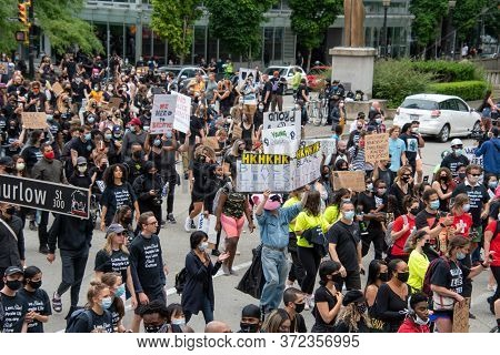Anti-racism Rally.     Vancouver  Bc Canada    June 19th 2020