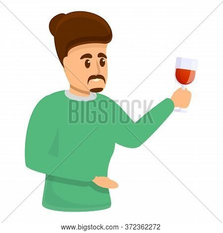 Wine Sommelier Icon. Cartoon Of Wine Sommelier Vector Icon For Web Design Isolated On White Backgrou