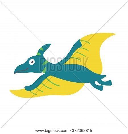 Cute Dinosaur Pteranodon. Dinosaur Vector Design Character