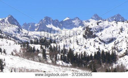 The Snow Covered Mountains Of The Inyo National Forest