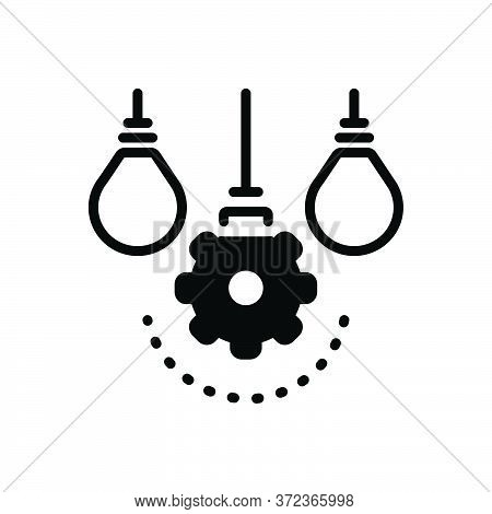 Black Solid Icon For Differ Distinguish Separate Distinct Detached Aloof Segregate