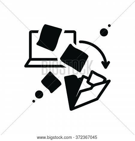 Black Solid Icon For Dematerialization Integration File-transfer