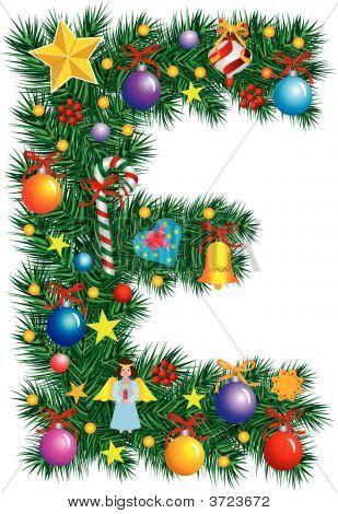 Alphabet Letter E - Christmas Decoration