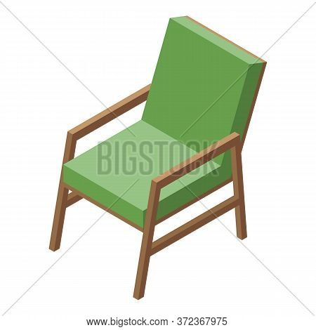 Seat Armchair Icon. Isometric Of Seat Armchair Vector Icon For Web Design Isolated On White Backgrou