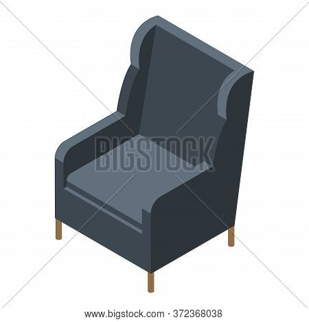 Leather Armchair Icon. Isometric Of Leather Armchair Vector Icon For Web Design Isolated On White Ba