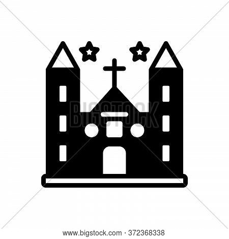 Black Solid Icon For Diocese Church Province Shire Presidency Building