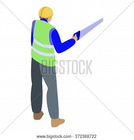 Lumberjack Icon. Isometric Of Lumberjack Vector Icon For Web Design Isolated On White Background
