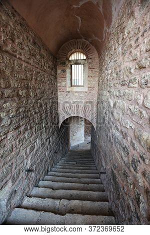 Old Passageway In Suleymaniye Mosque, Istanbul City, Turkey