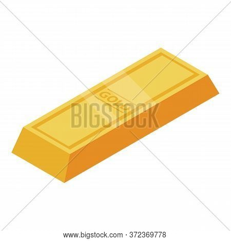 Vip Gold Bar Icon. Isometric Of Vip Gold Bar Vector Icon For Web Design Isolated On White Background