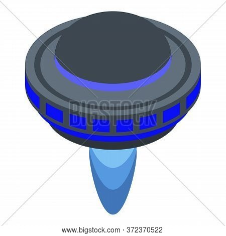 Ufo Ship Icon. Isometric Of Ufo Ship Vector Icon For Web Design Isolated On White Background