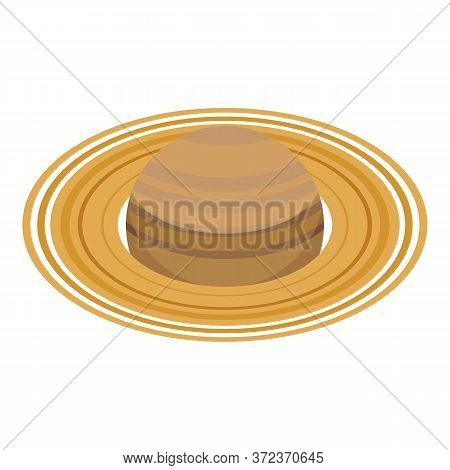 Saturn Planet Icon. Isometric Of Saturn Planet Vector Icon For Web Design Isolated On White Backgrou