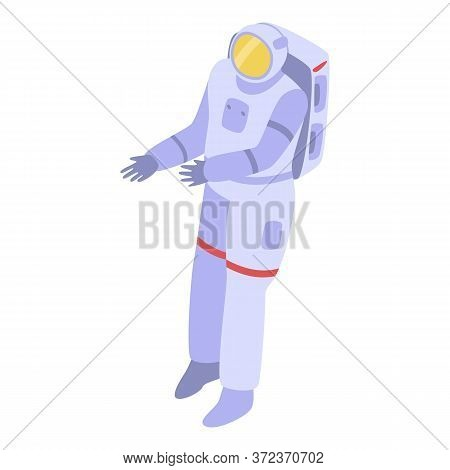 Character Astronaut Icon. Isometric Of Character Astronaut Vector Icon For Web Design Isolated On Wh