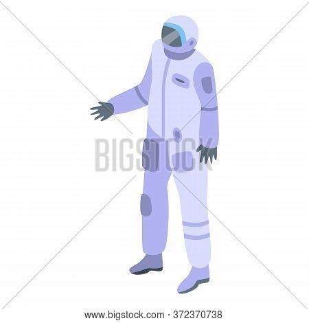 Cosmonaut Icon. Isometric Of Cosmonaut Vector Icon For Web Design Isolated On White Background