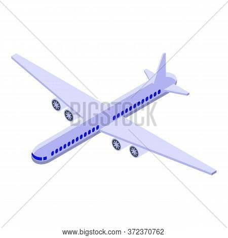 Egypt Airplane Travel Icon. Isometric Of Egypt Airplane Travel Vector Icon For Web Design Isolated O
